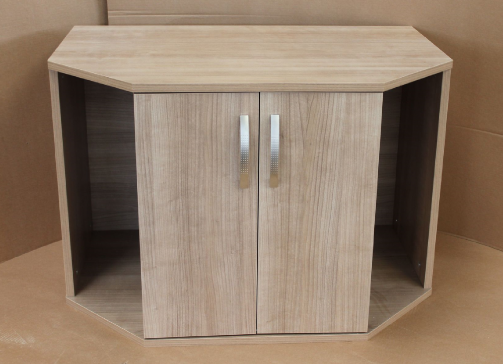 120cm  x 60cm x 45cm (48x24x18) Bow Fronted Cabinet two doors 4ft